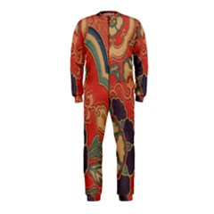 Vintage Chinese Brocade Onepiece Jumpsuit (kids) by Amaryn4rt