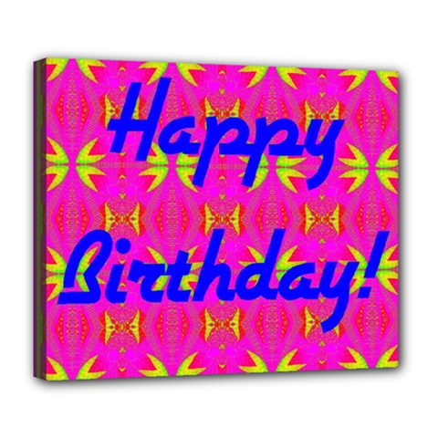 Happy Birthday! Deluxe Canvas 24  X 20   by Amaryn4rt