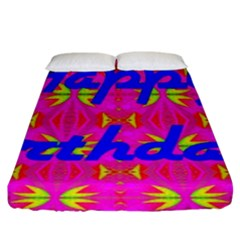 Happy Birthday! Fitted Sheet (king Size) by Amaryn4rt