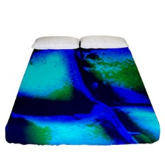 Blue Scales Pattern Background Fitted Sheet (king Size) by Amaryn4rt