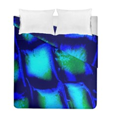 Blue Scales Pattern Background Duvet Cover Double Side (full/ Double Size) by Amaryn4rt