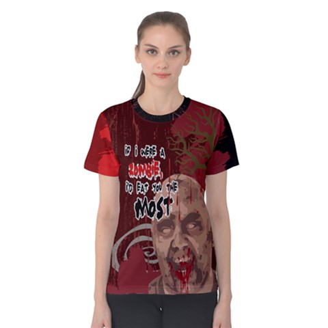 Zombie Zombie Women s Cotton Tee by PattyVilleDesigns