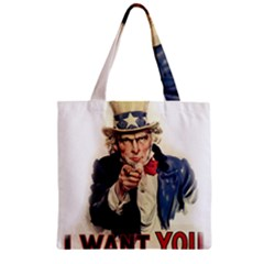 Uncle Sam Zipper Grocery Tote Bag by Valentinaart