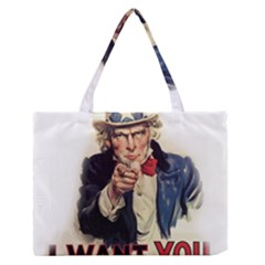 Uncle Sam Medium Zipper Tote Bag by Valentinaart