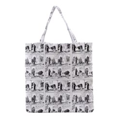 Old Comic Strip Grocery Tote Bag by Valentinaart