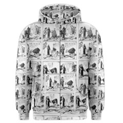 Old Comic Strip Men s Zipper Hoodie by Valentinaart
