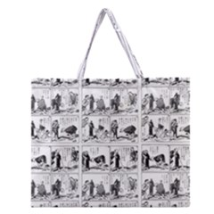 Old Comic Strip Zipper Large Tote Bag by Valentinaart