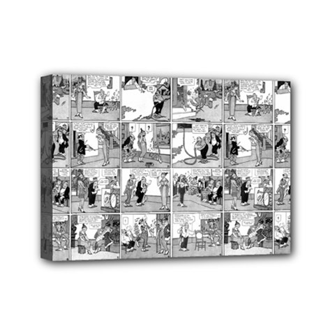 Old Comic Strip Mini Canvas 7  X 5  by Valentinaart
