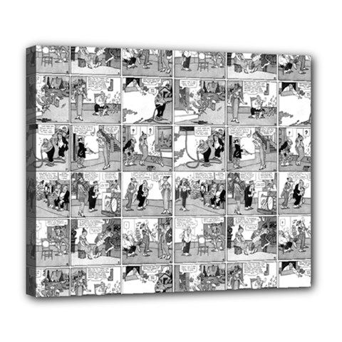 Old Comic Strip Deluxe Canvas 24  X 20   by Valentinaart
