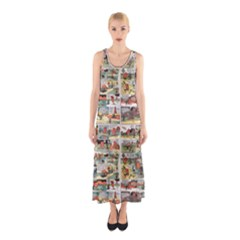 Old Comic Strip Sleeveless Maxi Dress by Valentinaart