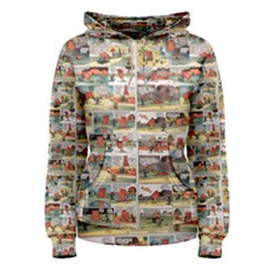Old Comic Strip Women s Pullover Hoodie by Valentinaart