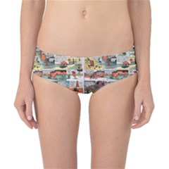 Old Comic Strip Classic Bikini Bottoms by Valentinaart