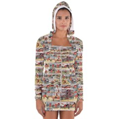 Old Comic Strip Women s Long Sleeve Hooded T-shirt by Valentinaart