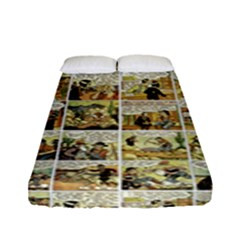 Old Comic Strip Fitted Sheet (full/ Double Size) by Valentinaart