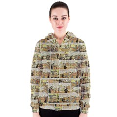 Old Comic Strip Women s Zipper Hoodie by Valentinaart