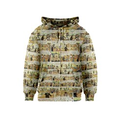 Old Comic Strip Kids  Zipper Hoodie by Valentinaart