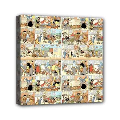 Old Comic Strip Mini Canvas 6  X 6  by Valentinaart