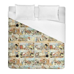 Old Comic Strip Duvet Cover (full/ Double Size) by Valentinaart