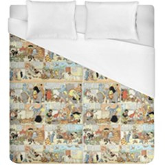 Old Comic Strip Duvet Cover (king Size) by Valentinaart