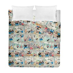 Old Comic Strip Duvet Cover Double Side (full/ Double Size) by Valentinaart