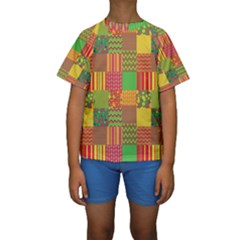 Old Quilt Kids  Short Sleeve Swimwear