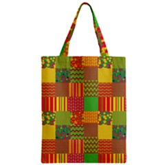Old Quilt Zipper Classic Tote Bag by Valentinaart