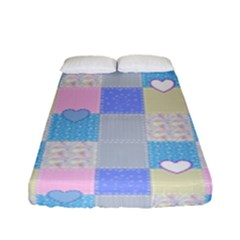 Patchwork Fitted Sheet (full/ Double Size) by Valentinaart