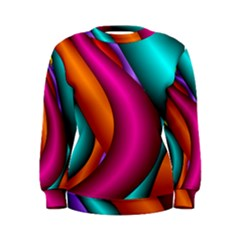 Fractal Wallpaper Color Pipes Women s Sweatshirt by Amaryn4rt