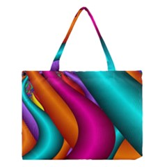 Fractal Wallpaper Color Pipes Medium Tote Bag by Amaryn4rt