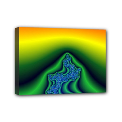 Fractal Wallpaper Water And Fire Mini Canvas 7  X 5  by Amaryn4rt