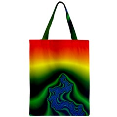Fractal Wallpaper Water And Fire Zipper Classic Tote Bag by Amaryn4rt