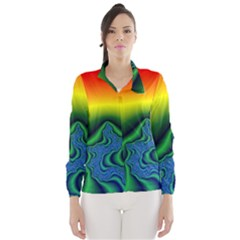 Fractal Wallpaper Water And Fire Wind Breaker (women)