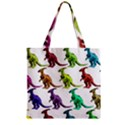 Multicolor Dinosaur Background Zipper Grocery Tote Bag View1