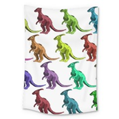 Multicolor Dinosaur Background Large Tapestry by Amaryn4rt