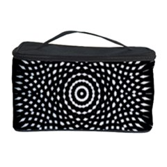 Black Lace Kaleidoscope On White Cosmetic Storage Case by Amaryn4rt