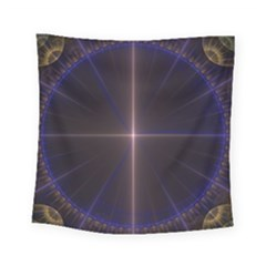 Color Fractal Symmetric Blue Circle Square Tapestry (small) by Amaryn4rt