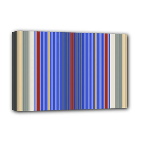 Colorful Stripes Background Deluxe Canvas 18  X 12