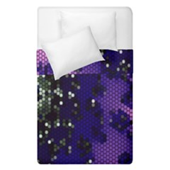 Blue Digital Fractal Duvet Cover Double Side (single Size) by Amaryn4rt