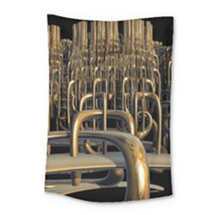 Fractal Image Of Copper Pipes Small Tapestry by Amaryn4rt