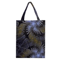 Fractal Wallpaper With Blue Flowers Classic Tote Bag