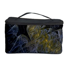 Fractal Wallpaper With Blue Flowers Cosmetic Storage Case