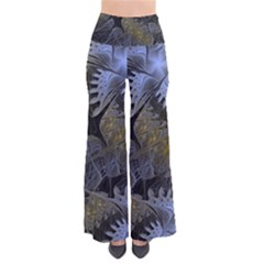 Fractal Wallpaper With Blue Flowers Pants