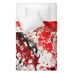 Red Fractal Art Duvet Cover Double Side (single Size) by Amaryn4rt