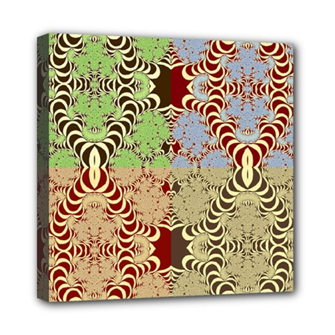 Multicolor Fractal Background Mini Canvas 8  X 8  by Amaryn4rt