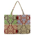 Multicolor Fractal Background Medium Zipper Tote Bag View1