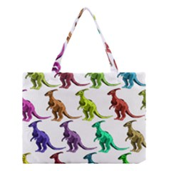 Multicolor Dinosaur Background Medium Tote Bag by Amaryn4rt