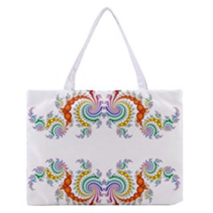 Fractal Kaleidoscope Of A Dragon Head Medium Zipper Tote Bag by Amaryn4rt