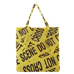 Crime Scene Grocery Tote Bag by Valentinaart