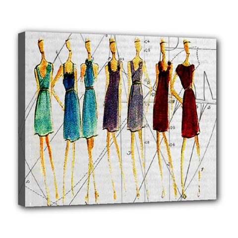 Fashion Sketch  Deluxe Canvas 24  X 20   by Valentinaart