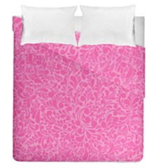 Pink Pattern Duvet Cover Double Side (queen Size) by Valentinaart